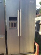 Counter Depth stainless kitchen aid refrigerator, must see! in Columbus, Georgia
