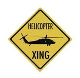 Blackhawk Helicopter XING Embossed Aluminum in Fort Rucker, Alabama