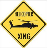 APACHE Helicopter XING Embossed Aluminum in Fort Rucker, Alabama