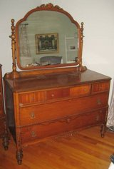 ANTIQUE KING-HAASE FURNITURE CO. - MIRROR DRESSER - Memphis, TN in Joliet, Illinois