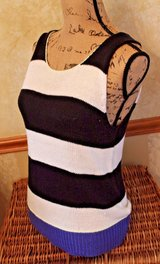Blue & Cream Striped Scoop Neck Sweater Knit Tank, Sanctuary, Large in Westmont, Illinois