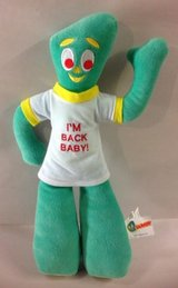 Vintage GUMBY I'm Back Baby Plush Stuffed Animal Doll Toy TV Show in Yorkville, Illinois