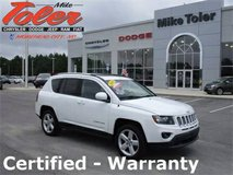 2014 Jeep Compass Latitude-Certified-Warranty-One Owner-(STK-14259A) in Cherry Point, North Carolina