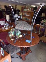 Round Oak Top Table With Claw Feet and Four Chairs in Fort Riley, Kansas