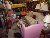 Sofa, Two Chairs, Coffee Table, End Tables and Lamps in Fort Riley, Kansas