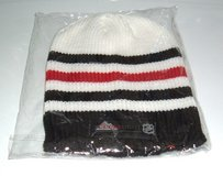 NEW Coors Light NHL Striped Knit Hat Unisex Adult Black White Red Mens Womens in Morris, Illinois