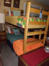 Oak Twin Size Bunk Beds With Ladder in Fort Riley, Kansas