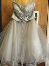 SHORT Silver Homecoming Prom dress in Warner Robins, Georgia