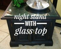 Adorable Night Stand with Glass Top in The Woodlands, Texas
