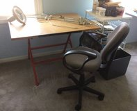 Craft Table with Adjustable Light and Chair in Naperville, Illinois