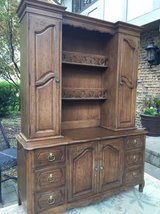 ** BEAUTIFUL WOOD HUTCH AND BUFFET CABINET/ MAKES FOR A GREAT BAR!!! in Morris, Illinois