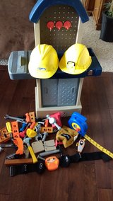 little tikes tool bench with extras in Olympia, Washington