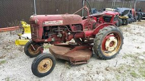 1957 farmall f cub w/ woods mower, plow and weights! in Naperville, Illinois