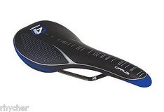 4za men's cirrus light alloy rail saddle, width 130mm/length 280mm, black/blue in Lockport, Illinois