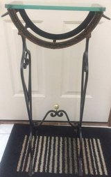 Antique Vintage Wrought Iron Fish Bowl Plant Stand Fishtank Holder aquarium in Glendale Heights, Illinois