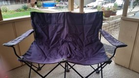 Folding love seat dual camp chair with case in Oceanside, California