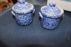 small blue ginger jar, storage jars, jars with lids in Bellaire, Texas