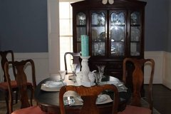 Dining set, table and chairs, china hutch cabinet, wood dining in Pearland, Texas