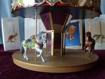 Hallmark Carousel with 2 horses, tiger, lion, polar bear, kangaroo in Schaumburg, Illinois