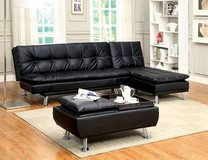 New Leatherette Sofa Futon Bed and Ottoman  FREE DELIVERY in Oceanside, California