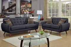 Ash Black Loveseat Only Retro Style (Set Optional) FREE DELIVERY in Oceanside, California