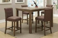 Oak Counter Height Dining Set Table and 4 Chairs FREE DELIVERY in Oceanside, California