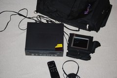 fun tv w/ 4in display portable vhs/tv tape player 12volt home car   00044 in Fort Carson, Colorado