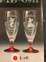 disney japan wine glasses by sega  nib opened japanese mickey mouse in Okinawa, Japan