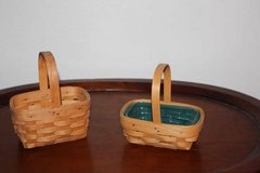 Two Small Longaberger Baskets in Kingwood, Texas