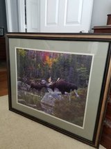 Professionally framed jigsaw moose picture in Moody AFB, Georgia