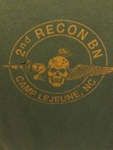 2nd recon bn camp lejeune t- shirt size large read condition usmc marines in Okinawa, Japan