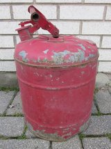 JUSTRITE 5 Gal Safety Gas Can Galvanized Steel VINTAGE in Aurora, Illinois
