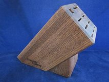 CHICAGO CUTLERY Dark Oak Wood Knife Block VINTAGE in Aurora, Illinois