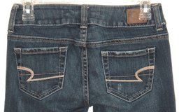 American Eagle ARTIST Lightly Distressed Boot Cut Jeans Womens 00S 00 Short in Yorkville, Illinois