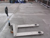 "crown pth 50 series pallet jack 3' 11"" long forks 5000lb capacity  140420 in Fort Carson, Colorado"