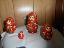 Authentic Hand Painted Wooden  Russian Nesting Dolls!  So Cute !  Set of 4! in Bellaire, Texas