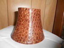 "Small Brown Lamp Shade    Good condition.  Approximately 10"" ; tall x 6""  wide in Bellaire, Texas"