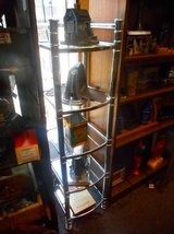 Metal and Glass Shelf Unit in Elgin, Illinois