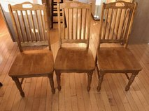 3 Lightwood Side Chairs in Plainfield, Illinois