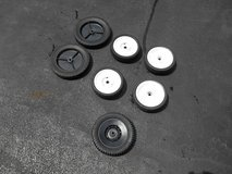 Lot Of 7 Assorted Used Lawn Mower Wheels Tires in Shorewood, Illinois