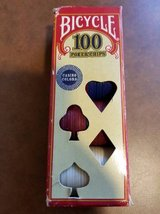 Bicycle Poker Chips 100 Count with 3 Colors Discontinued (T=37) in Fort Campbell, Kentucky