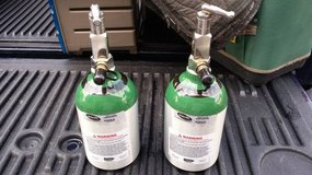 2 Refillable Portable Oxygen tanks and 1 Ready rack in Morris, Illinois