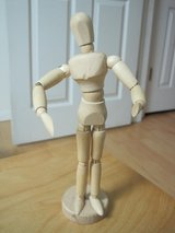 "artist model mannequin articulated wooden jointed poseable 8"" on base unisex in Houston, Texas"