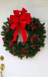 "24"" CHRISTMAS WREATH in Palatine, Illinois"