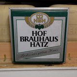hofbrauhaus hatz beer bier large lamp german sign wall light lanturn in Ramstein, Germany
