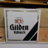 gilden kölsch beer bier large lamp german sign wall light lanturn in Ramstein, Germany
