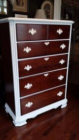 Tall Wood & Paint Accented Dresser in Orland Park, Illinois