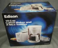 Edison 10-Cup Coffee Maker & 2-Slice Toaster - NIB in Aurora, Illinois
