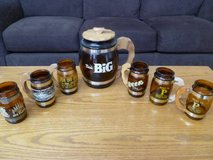 Vintage Siesta Ware/Artmark Mixed Lot of 6 Brown Mugs and Canister in Bartlett, Illinois