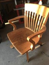 Solid Oak Desk Chair in Sugar Grove, Illinois